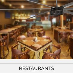 Restaurants Ceiling Fans