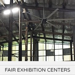 HVLS Fans Application - Fair Exhibition Centers