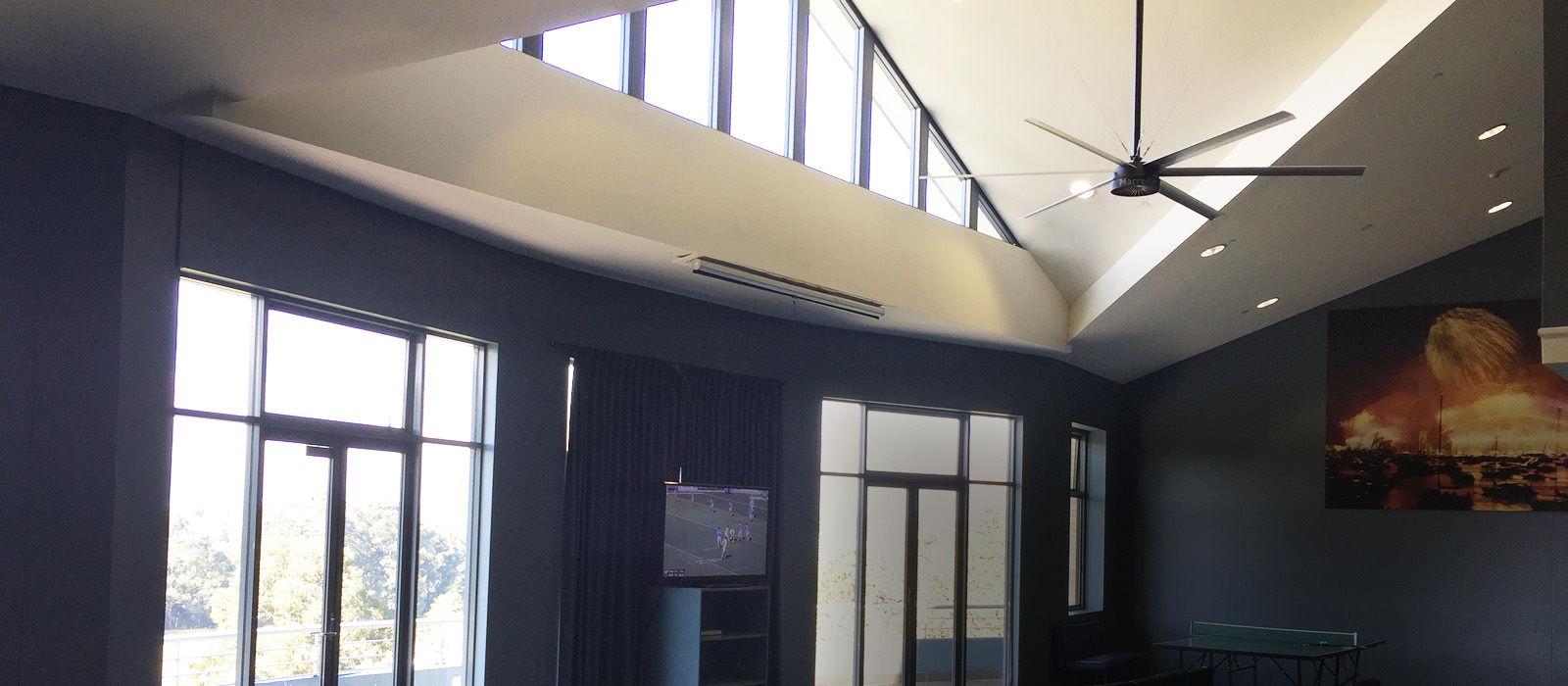 big fans installation st.ignatiuscollege sporting facility